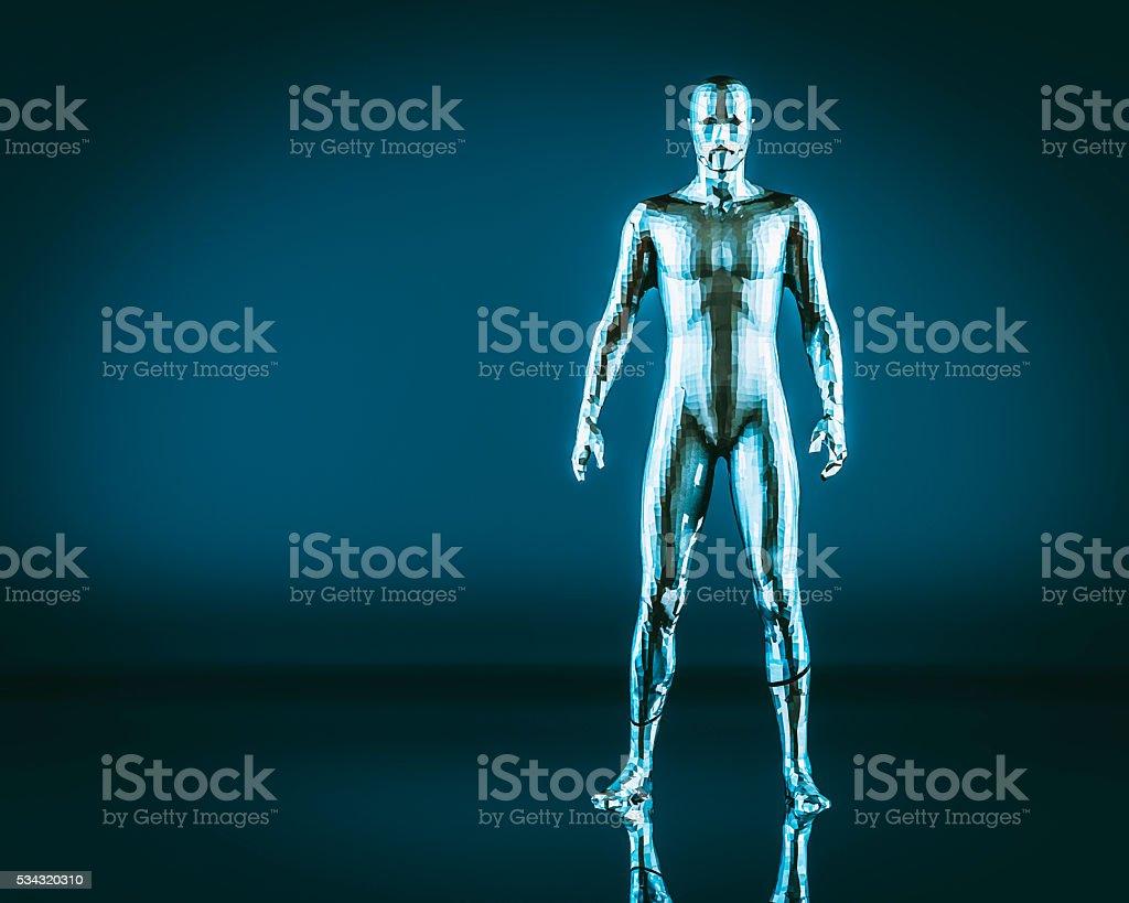 Grobe humanoid Form, cyborg, futuristischen – Foto