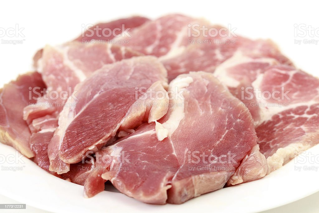 Crude meat royalty-free stock photo