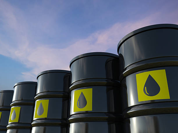 crude oil barrels – Foto