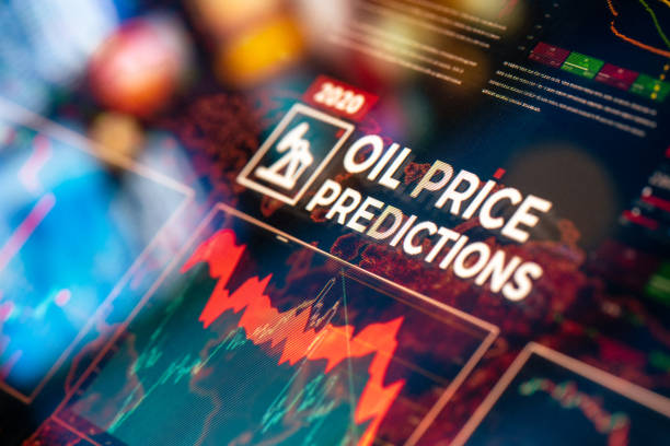 Crude Oil Price Predictions stock photo