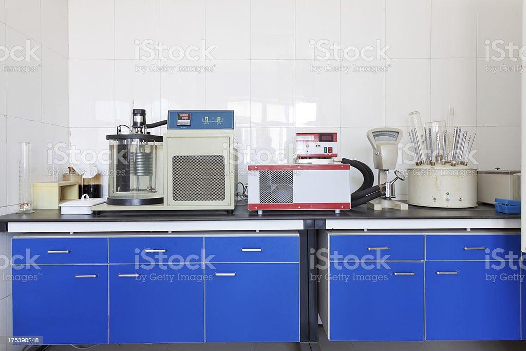 Crude oil testing laboratory stock photo