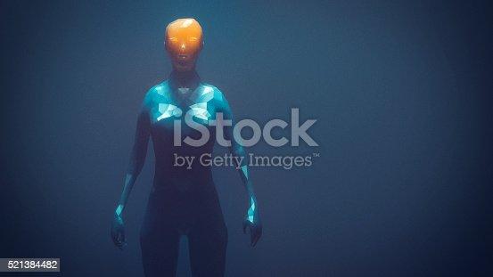 istock Crudely shaped humanoid figure 521384482