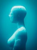 istock Crudely shaped humanoid figure 521384796