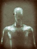 istock Crudely shaped humanoid figure 521986776