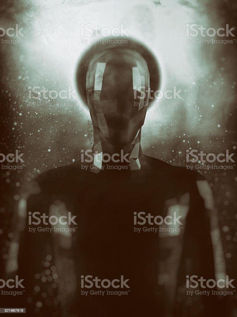 Crudely shaped humanoid figure stock photo