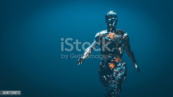 istock Crudely shaped humanoid figure 526725972