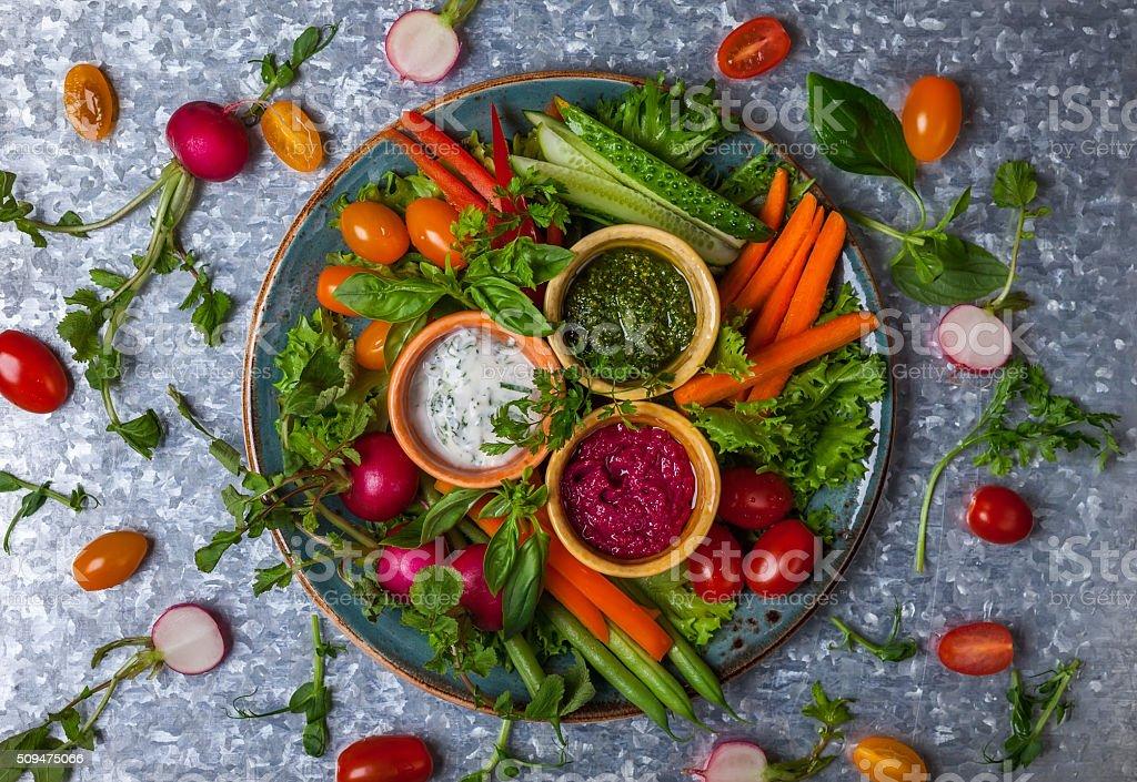 Crudite Platter stock photo
