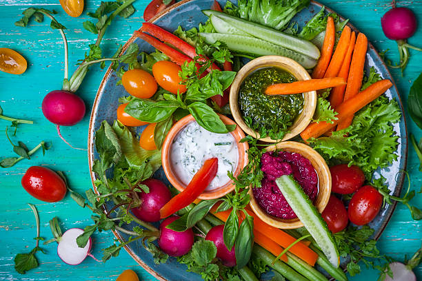 Crudite Platter stock photo