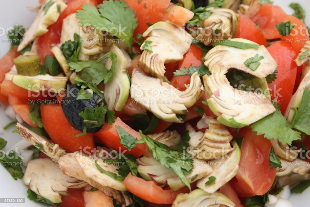 Crudités - Salade composée stock photo