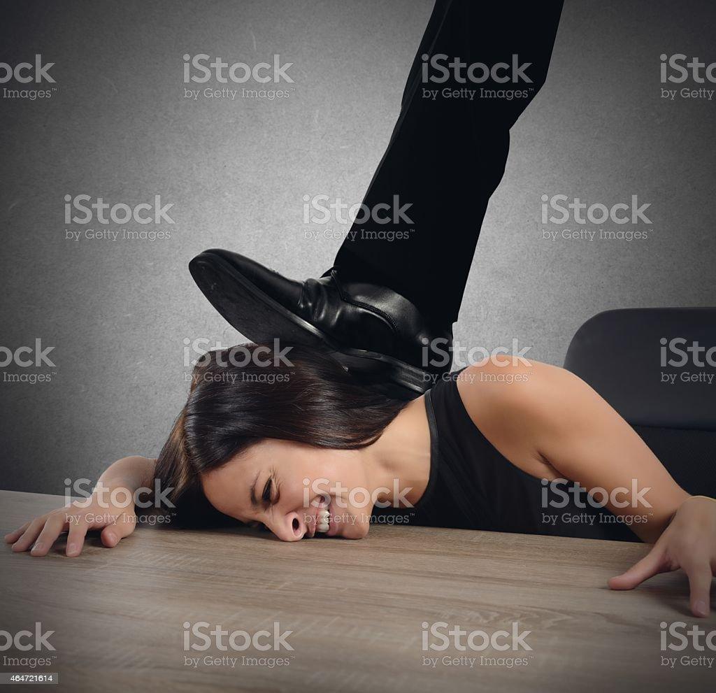 Cruel boss stock photo