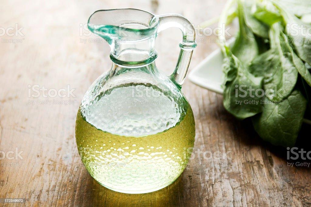 Cruet of Olive Oil royalty-free stock photo