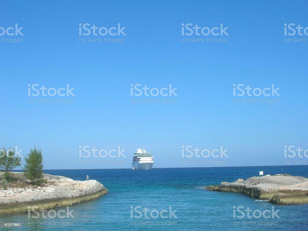 Cruise at Sea royalty-free stock photo