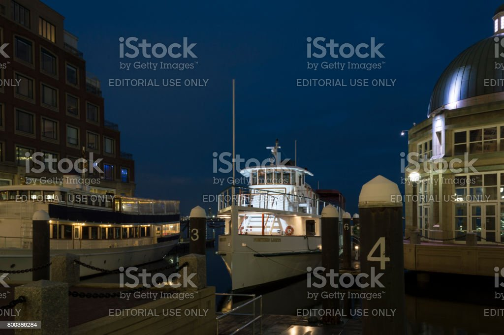 Cruise boat Northern Lights stock photo