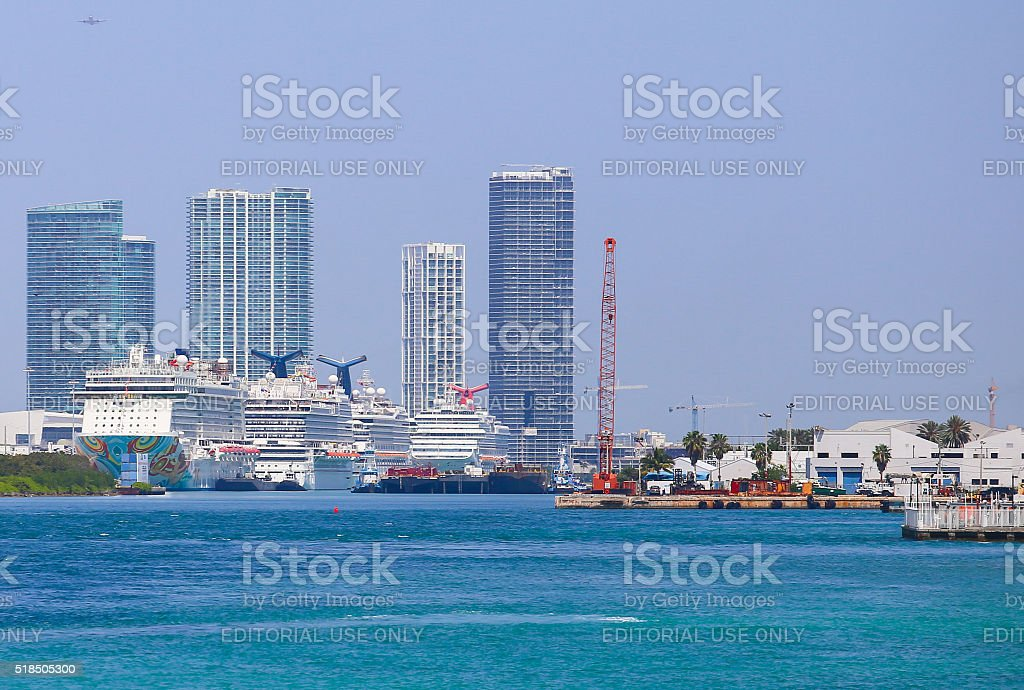 Cruise Capital of the World stock photo