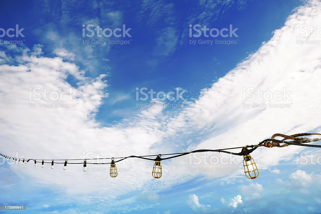 cruise deck ligths royalty-free stock photo