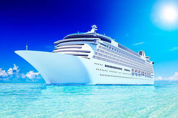 3D Cruise Destination Ocean Summer Island Concept stock photo