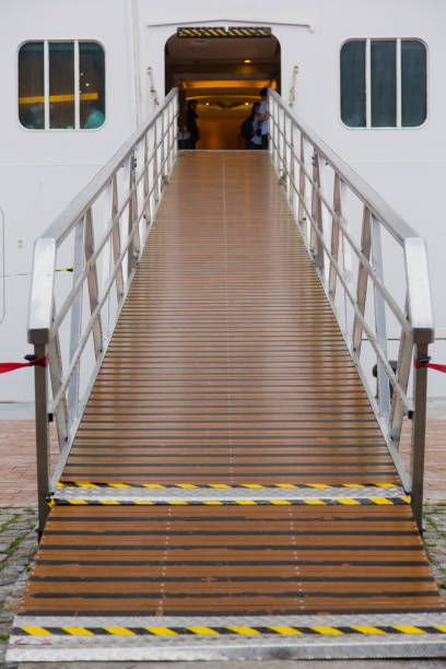 Cruise entry platform fron view stock photo