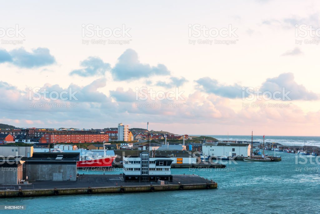 Cruise ferry from Hirtshal stock photo