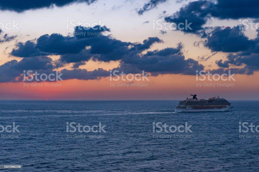 Cruise in Dusk stock photo