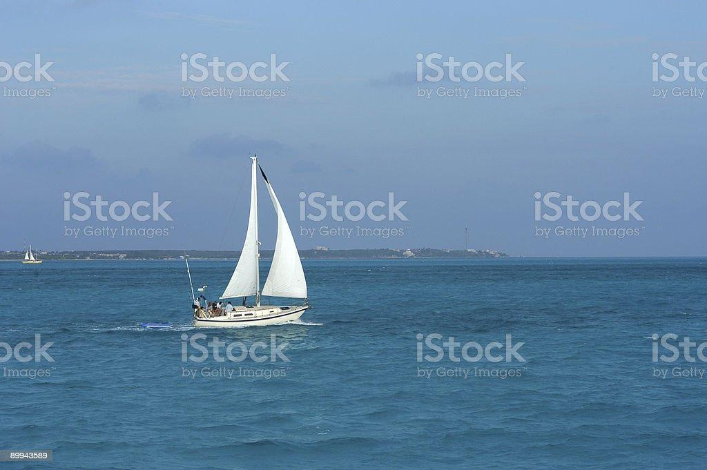 Cruise in paradise royalty-free stock photo
