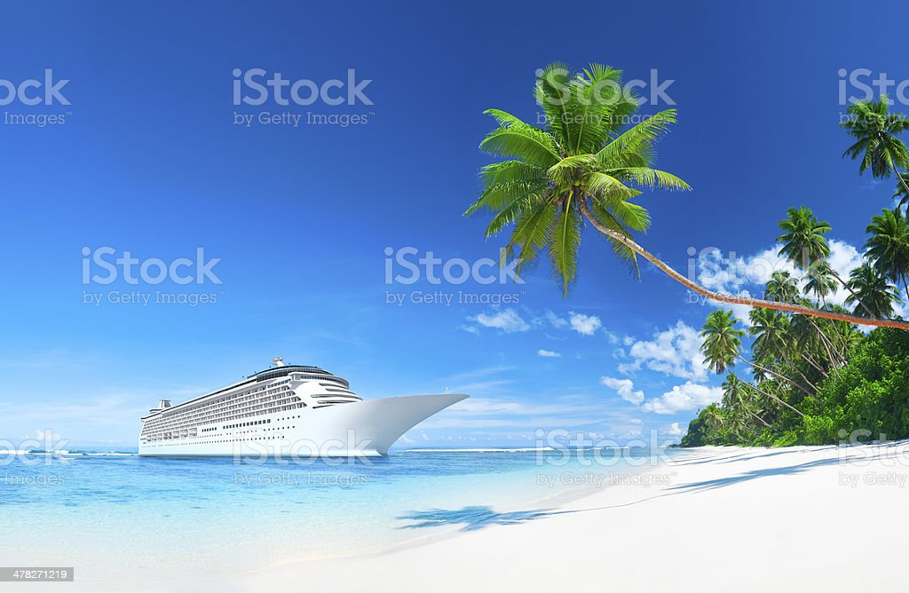 Cruise in the sea royalty-free stock photo