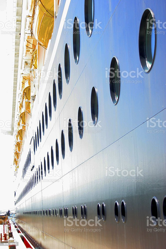 Cruise line royalty-free stock photo