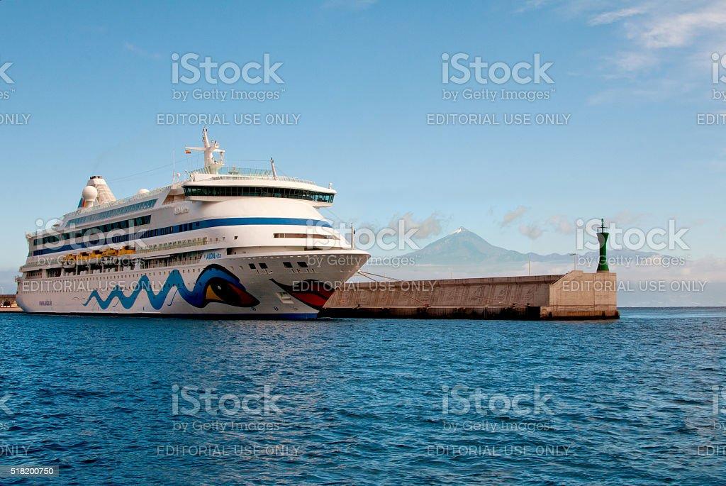 Cruise liner AIDA Vita stock photo