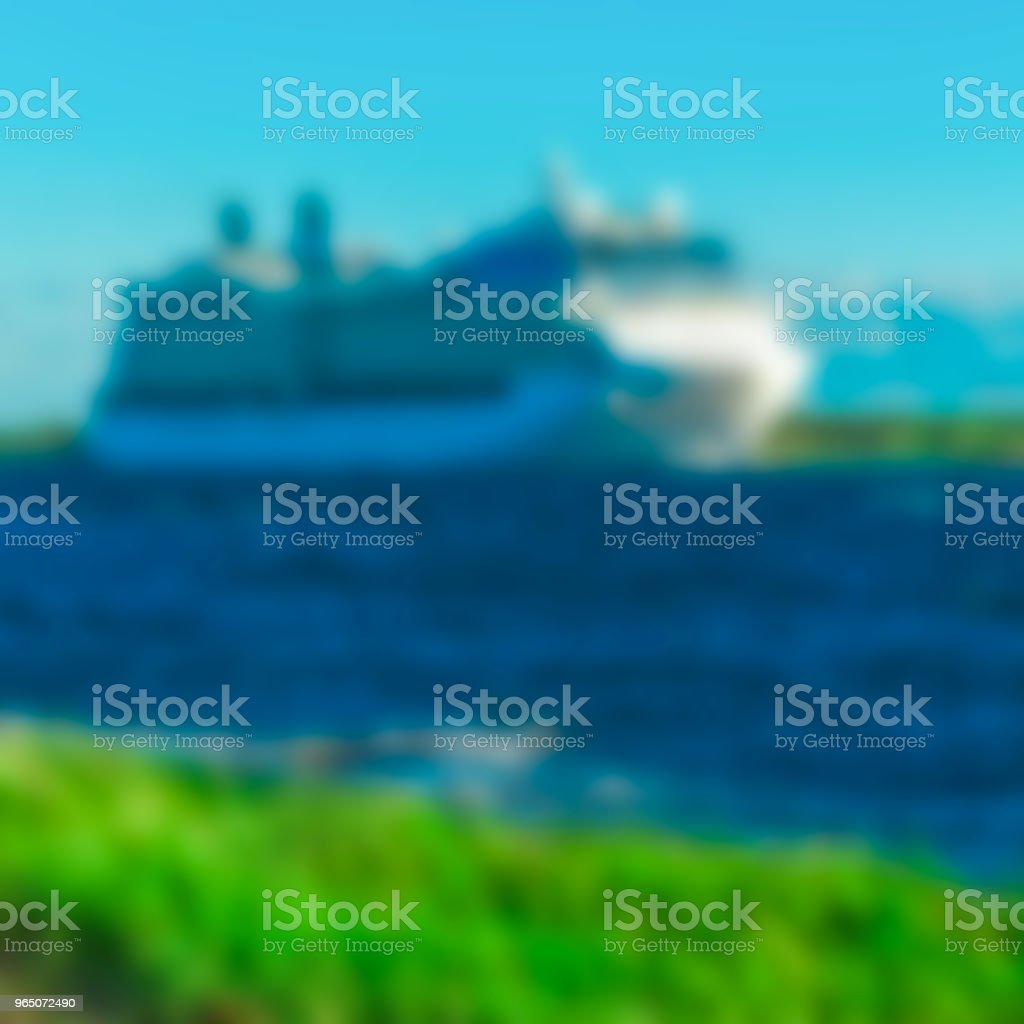 Cruise liner - blurred image royalty-free stock photo