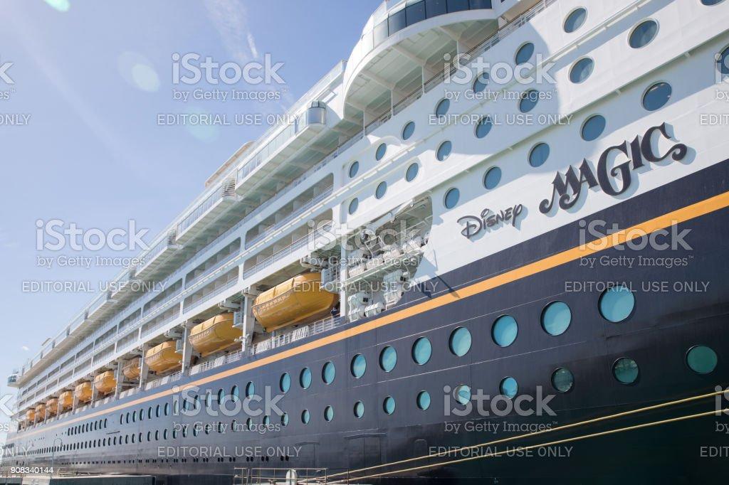 Cruise liner Disney Magic at Key West, Florida stock photo
