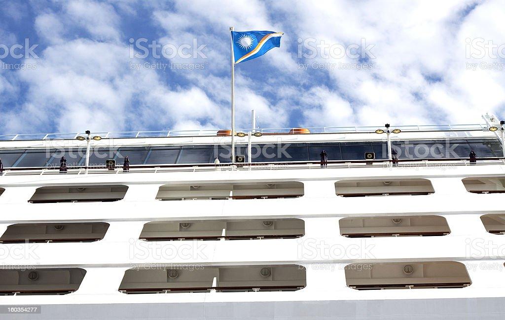 Cruise liner stock photo