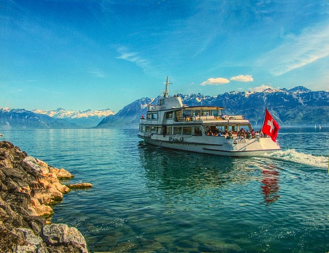 Cruise on Lake Geneva (Leman) in Switzerland