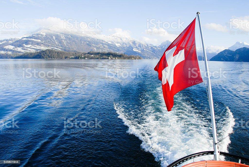 Cruise on Lake Lucerne, Switzerland stock photo