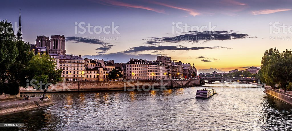 Cruise on River Seine stock photo