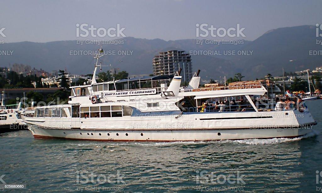 Cruise passenger  ship 'Konstantin Stanyukovich' stock photo
