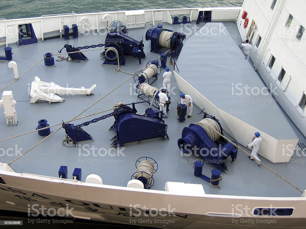 Cruise sailors royalty-free stock photo