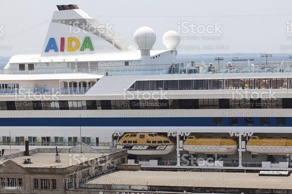 Cruise ship ''AIDA AURA'' royalty-free stock photo