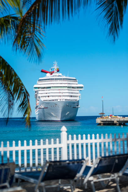 Royalty Free Cruise Ship Arriving On Grand Turk Island Turks And - Turks and caicos cruise ship schedule