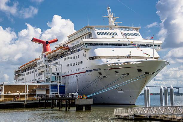 Cruise Ship at Port of Charleston stock photo