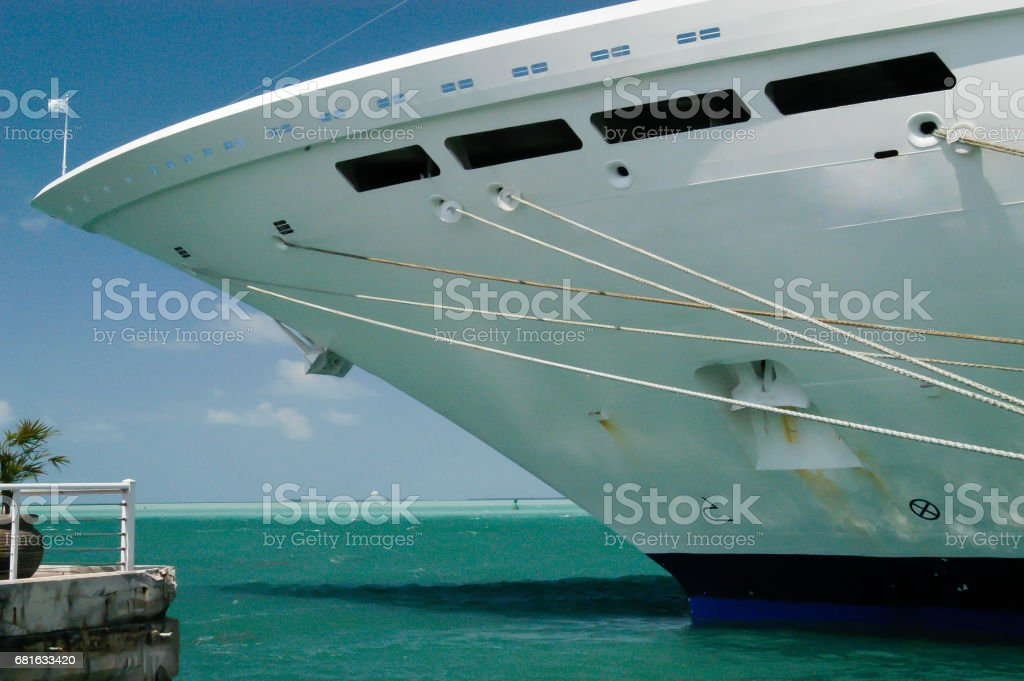 Cruise ship bow stock photo