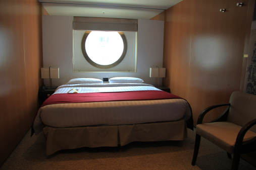 Cruise ship cabin interior