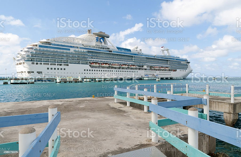 Cruise Ship Coral Princess stock photo