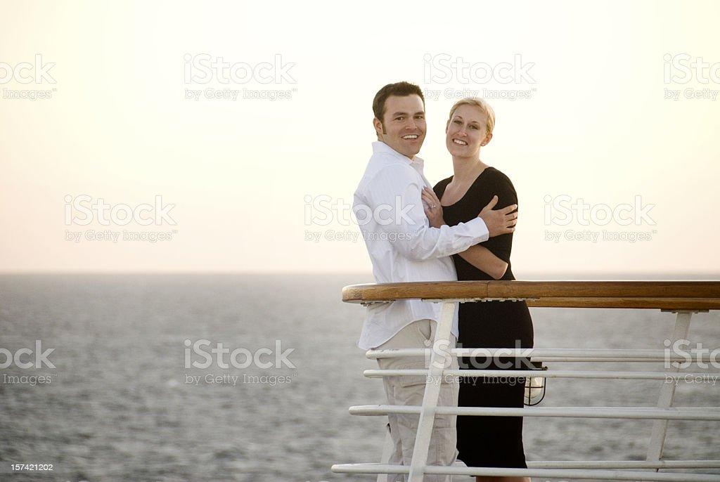 Cruise ship couple royalty-free stock photo