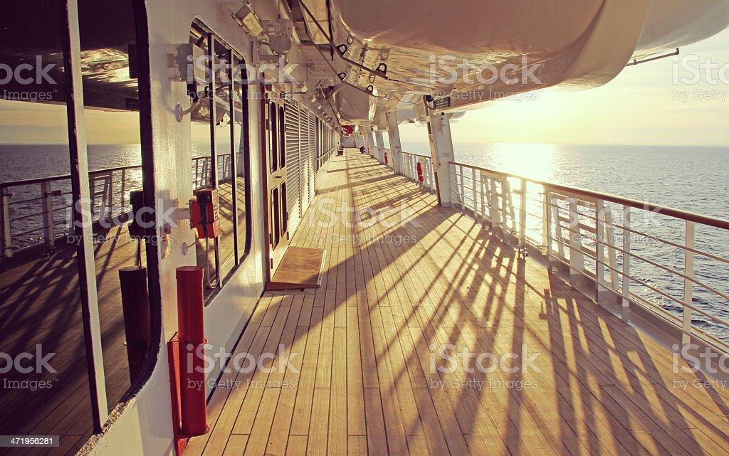 Cruise ship deck. stock photo
