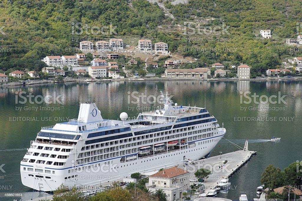 Cruise Ship Docked stock photo