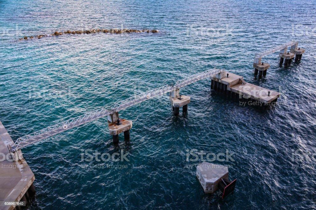 Cruise Ship Docking stock photo