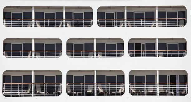 Cruise ship facade stock photo