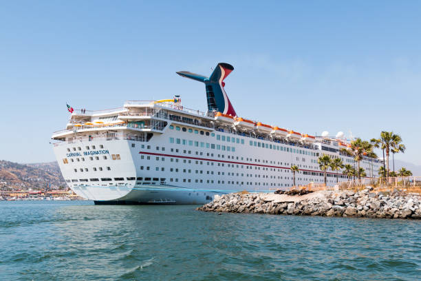 Cruise Ship Imagination Docked in the Port of Ensenada stock photo