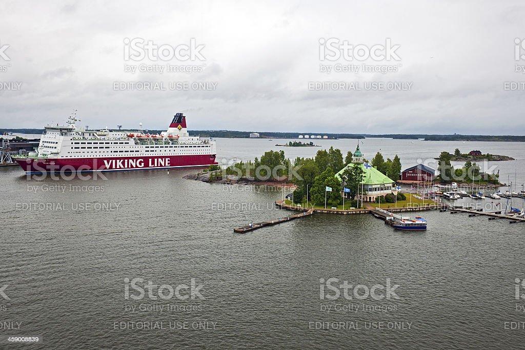 Cruise Ship in Helsinki Scandinavia North Europe royalty-free stock photo