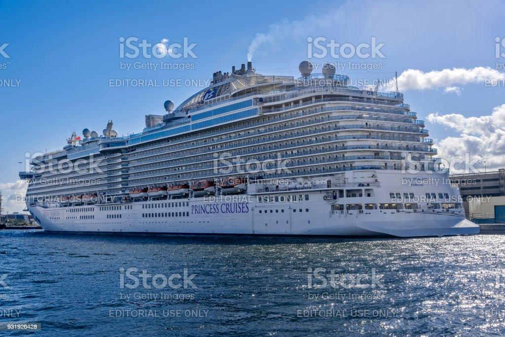 Cruise Ship in Port Everglades, Florida stock photo