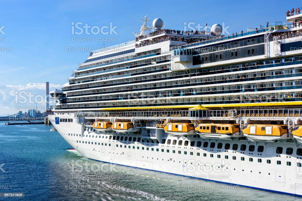 Cruise Ship in Port of Venice stock photo
